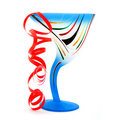 Free Blue Glass Of Champagne Royalty Free Stock Photography - 5241327