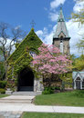Free Vine Covered Chapel Stock Image - 5243011