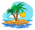 Free Tropical Island Illustration Royalty Free Stock Photography - 5246677