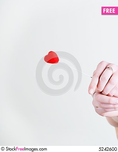 Free Red Heart In Hands Stock Photo - 5242600