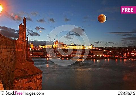 The Prague Castle in Prague Stock Photo