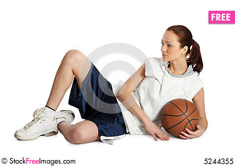 Free Female Basket Ball Player Royalty Free Stock Photo - 5244355
