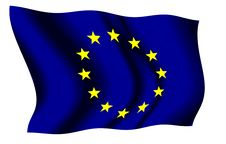 Free European Union Waving Flag Royalty Free Stock Photo - 5240135