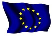 European Union Waving Flag Royalty Free Stock Photo