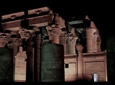 Free Kom Ombo Temple At Nile River Stock Photography - 5240142