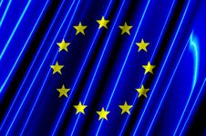 Free European Union Plastic Flag Stock Photos - 5240223