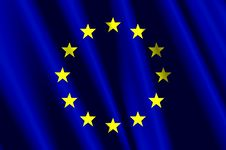 European Union Air Flag Stock Images