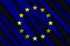 Free European Union Satin Flag Royalty Free Stock Photography - 5240247