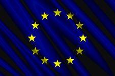 European Union Satin Flag Royalty Free Stock Photography