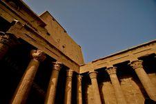 Horus Temple At Edfu Town Royalty Free Stock Photos