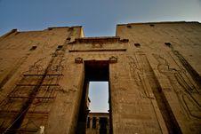 Horus Temple At Edfu Town Stock Photo