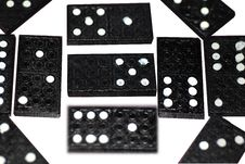 A Display Of Dominoes Tiles Royalty Free Stock Image
