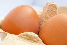 Free Barn Eggs - Fresh And Free Range Royalty Free Stock Photography - 5240557