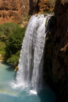 Free Havasu Waterfall Royalty Free Stock Images - 5240739