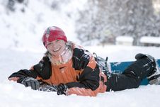 Free A Health Lifestyle Image Of Teens Snowboarder Royalty Free Stock Image - 5240776