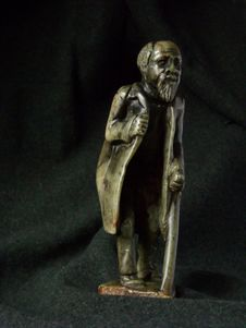 Free Old Man Sculpture Africa Stock Image - 5241021