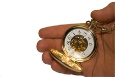 Free A Clock Is In A Hand Stock Image - 5241311