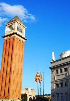 Free Placa Espana In Barcelona Royalty Free Stock Photos - 5241858