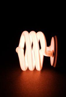 Energy-Saving Light Bulb Stock Image