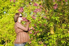 Free Pregnant Woman At Tree Stock Images - 5241984