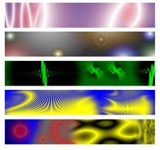 Free Five Web Banner Set  3 Royalty Free Stock Image - 5242166