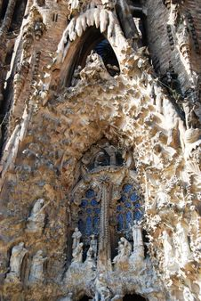 Sagrada Familia Entrance Stock Photography