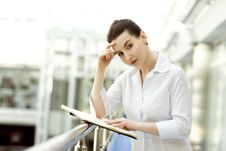 Free Attractive Woman With Business Diary Stock Photography - 5242412