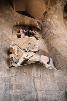 Free Sculptures Of Sagrada Familia Stock Photography - 5242432