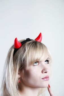 Free Woman Devil Royalty Free Stock Image - 5242706