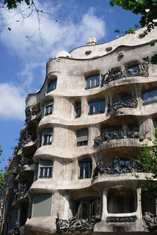 Free Casa Mila, Barcelona Stock Photo - 5244090