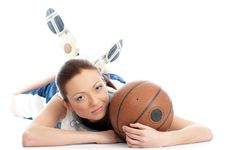 Free Female Basket Ball Player Stock Photos - 5244383