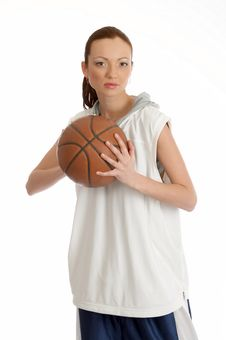 Free Female Basket Ball Player Royalty Free Stock Photography - 5244537