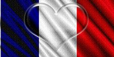 Free France Flag Crystal Heart Stock Photos - 5244613