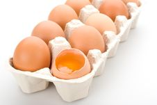 Free Brown Eggs, Isolated Stock Photo - 5245080