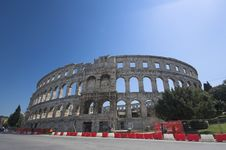 Roman Arena In Pula Stock Photography