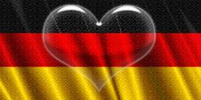 Free Germany Flag Crystal Heart Royalty Free Stock Image - 5246746