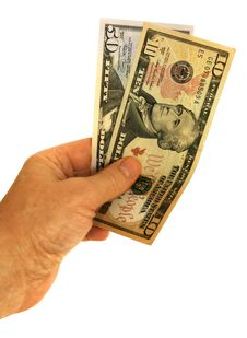 Free United States Dollars In Hand Stock Photography - 5247062