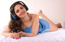 Free Girl Lying And Enjoying Royalty Free Stock Image - 5247346