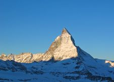 Free Matterhorn Sunrise Royalty Free Stock Photo - 5247505