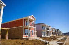 Free New Homes Under Constructions Royalty Free Stock Photography - 5247617