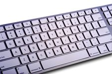 Modern Computer Keyboard Royalty Free Stock Images