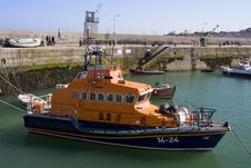 Lifeboat In Port Royalty Free Stock Photography