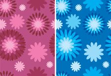 Free Floral Retro Pattern Royalty Free Stock Photography - 5248977