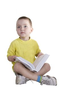 The Boy Reads The Book 2 Royalty Free Stock Photography