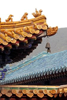 Free Exquisite Eaves Of The Temple, Royalty Free Stock Image - 5249386