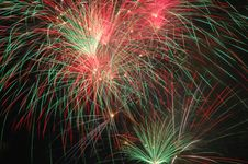 Free Red Green Fireworks Royalty Free Stock Photography - 5249387
