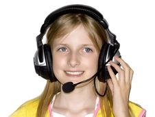 Free Beautiful Girl Listing Music Royalty Free Stock Images - 5249549