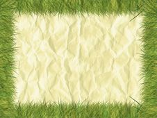 Free Grass Border On Paper Royalty Free Stock Photography - 5249557