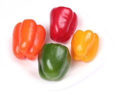 Free Four Colorful Peppers Stock Images - 5249614