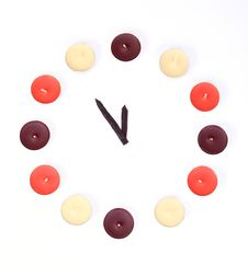 Free Clock Made With Candles Royalty Free Stock Image - 5249626